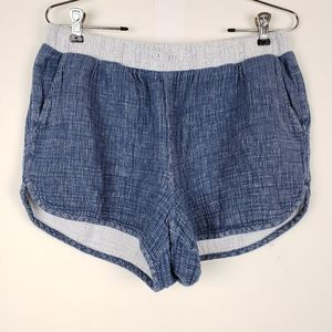 Madewell Blue Linen Shorts Size Large